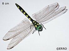 Libelle schwarz-gelb - Insektenmagnet, Tiermagnet, BVB Dekomagnet, Sammelmagnet, Kühlschrankmagnet, Geburtstagsgeschenk, Geschenkidee