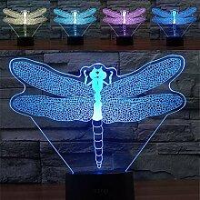 Libellen-Schäferhund 3D-LED-Lampe, abstraktive