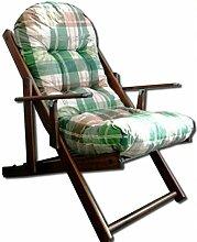 Liberoshopping Harmony Sessel, Liegestuhl zum Entspannen, aus Holz, zusammenklappbar, mit weich gepolsterten Luxus-Kissen, Höhe: 100 cm, Wohnzimmer, Küche, Sofa