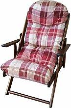 Liberoshopping Sessel, Liegestuhl, Entspannen, aus Holz, verschiedene Positionen, zusammenklappbar, mit Kissen gepolstert, Höhe: 100 cm, Wohnzimmer, Küche, Sofa