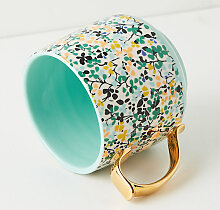 Liberty for Anthropologie Schale - Green Motif