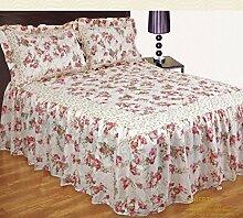 Liberty Rose Rosa Blumenmuster Bettüberwurf