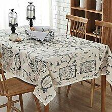 Lichll Tischdecke Karte Baumwolle Und Leinenkunst