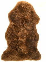 Licht Braun Echtes groß Schaffell Teppich mit