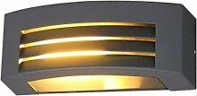 Licht-Erlebnisse Aluminium Wand-Außenleuchte mit Lamellen für tolle Lichteffekte NO2/1/003