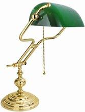 Licht-Erlebnisse Schreibtischlampe Echt-Messing