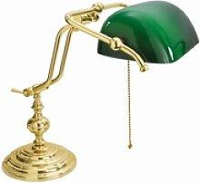 Licht-Erlebnisse Schreibtischlampe Vergoldete
