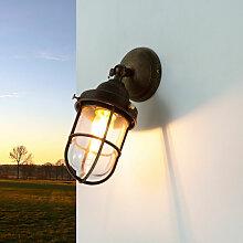 Licht-erlebnisse - Wand Außenleuchte Messing Glas
