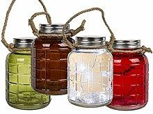 Licht Glas Deko Windlicht LED Lichterkette Vintage