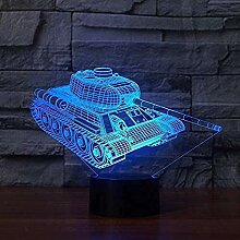 Licht Kreative Panzer 3D Nachtlicht Touch Base 7