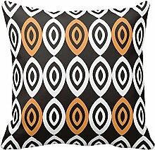 Licht orange schwarz und weiß Geometrische Kissen Fall Home Sofa Deko, Color1, 20x20 inch