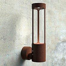 LICHT-TREND Rocha / LED-Aussen-Wandlampe / 420 Lumen / rostfarben