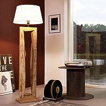 Licht-Trend Timber Stehleuchte mit Holzfuß h126