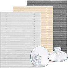Lichtblick Dachfenster-Plissee Haftfix, 59,3 x 100