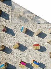 LICHTBLICK Fensterfolie Strandkörbe,