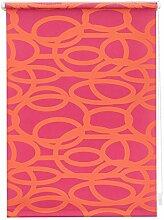 Lichtblick KRT.060.180.111 Rollo Klemmfix, ohne Bohren, blickdicht, Bubbles Kreise - Lila-Orange 60 cm x 180 cm (B x L)