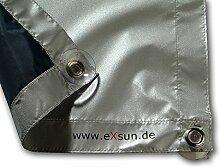 Lichtblick SDF.SK06.09V Dachfenster Sonnenschutz Haftfix, ohne Bohren, Verdunkelung Blau 94 cm x 96,9 cm (B x L) für SK06