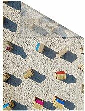 Lichtblick SKF.050.050.717 Fensterfolie selbstklebend, Sichtschutz, Strandkörbe - Beige 50 x 50 cm (B x L)