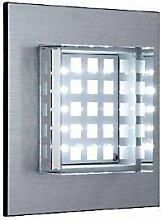 lichtdiscount - LED Glas Wandleuchte Lampe Einbaustrahler IP54 230V kaltweiss - Hochwertige & Edle Außenleuchte
