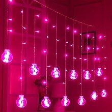 Lichter String Dekoration Lichter Wunsch Ball Vorhang Lampe , pink