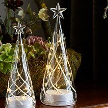 Lichterbaum leuchtet den ganzen Advent