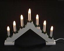 Lichterbogen aus Holz mit 7 elektrischen Kerzen