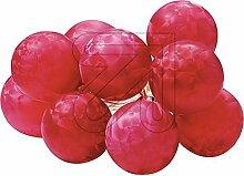 Lichterkette 10flg. Mini-Eislack-Kugeln rot 76825