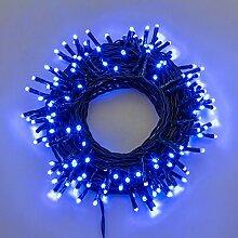 Lichterkette 13,1 m, 180 Mini LEDs blau, grünes Kabel