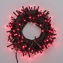 Lichterkette 13,1 m, 180 Mini LEDs rot, grünes