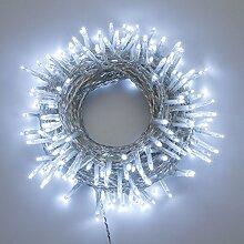 Lichterkette 13 m, 180 Mini LEDs kaltweiß, transparentes Kabel, mit Memory Controller