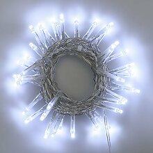 Lichterkette 2,8 m, 40 Mini LEDs kaltweiß, transparentes Kabel, 4,5V, Innen und Außen