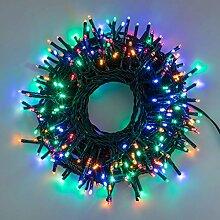 Lichterkette 20 m, 400 Mini LEDs bunt, grünes