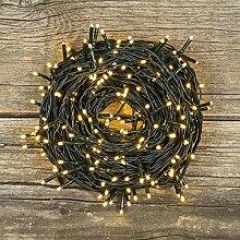 Lichterkette 25,5 m, 360 Mini LEDs warmweiß, grünes Kabel