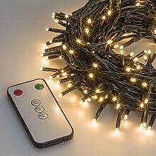 Lichterkette 32,4 m, 400 Mini LEDs warmweiß, mit