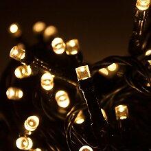 Lichterkette 320 LED-Lichter / 27m / Warmweiß - Indoor & Outdoor - Weihnachtsbaumkette Aussenbeleuchtung Innenbeleuchtung Partydekoration Partybeleuchtung Lichterdeko