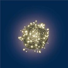Lichterkette 34,1 m, 480 Mini LEDs warmweiß, grünes Kabel