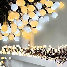 Lichterkette 400 LEDs 3M Globe Lichterkette Warmweiß Wunderschöne Lichterkette mit 8 Modes Dekoration Lichter Sicherheit geeignet für Innen und im Freien Garden