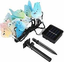 Lichterkette 4m 10 LED Schmetterling Solar String