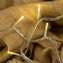 Lichterkette 50 m, 500 LEDs warmweiß, transparentes Kabel, mit Memory Controller, Trafo inklusive