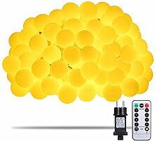 Lichterkette, Afufu 100er LED Kugel LED