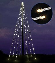 Lichterkette Fahnenmast Fahnenstangen