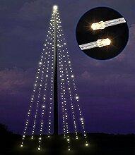 Lichterkette für Fahnenmast Fahnenstangen