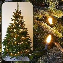 Lichterkette für Weihnachtsbaum 12 m mit 120 LED Mini-Kerzen und Programmen für innen