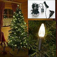 Lichterkette für Weihnachtsbaum 12m mit 120 LED Mini-Kerzen und Programmen innen