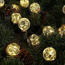 Lichterkette Glühbirne G40 Schnur Lichter 30 LED