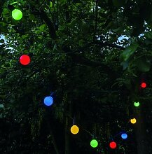 Lichterkette Glühbirnen LED bunt L225cm