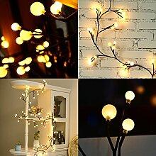 Lichterkette LED 2.5M Globe Lichterkette Warmweiß Wunderschöne mit 8 Modes Niederspannung Sicherheit geeignet für Innen und im Freien Garden Commercial Dekoration Lichter für Party Weihnachten Hochzei