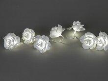 Lichterkette, Lichtergirlande ROSEN mit 10 LEDs weiß L. 90cm Formano (7,95 EUR / Stück)