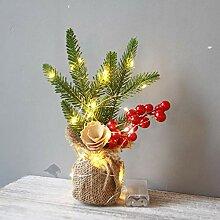 Lichterkette+Mini Weihnachtsbaum,FeiliandaJJ