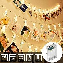 Lichterkette mit Klammern für Fotos,FeiliandaJJ
